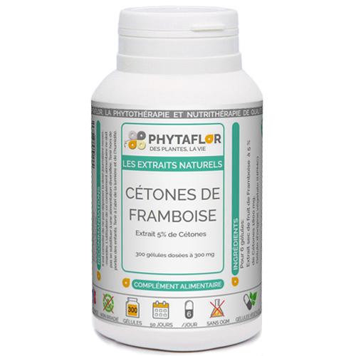 Cétones de Framboise extrait à 5 % d'actif.