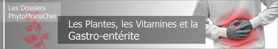 Les plantes, vitamines et la gastro-entérite.