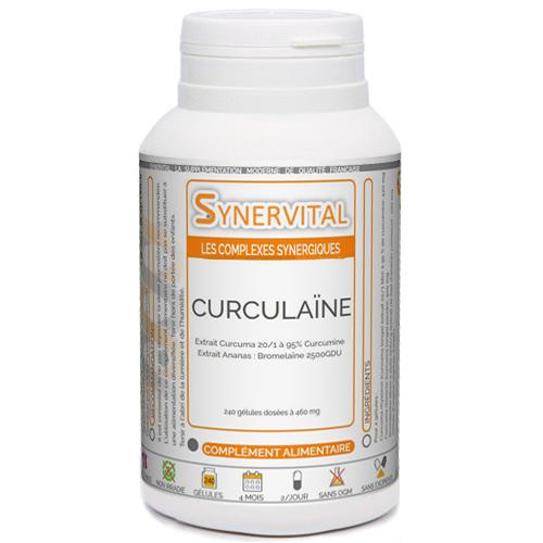 Curculaïne, Curcuma + Bromélaïne Synervital