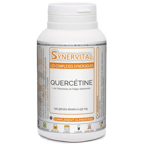 Quercétine complexe, bromélaïne, vitamines et minéraux Phytaflor.