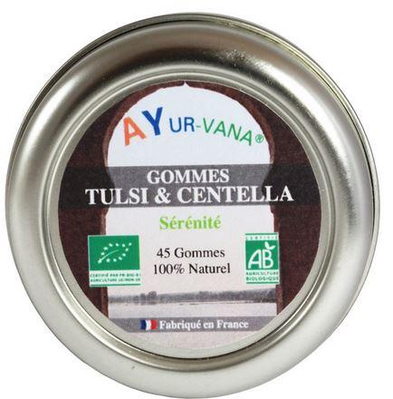 Gommes Tulsi et Centella Ayurvana