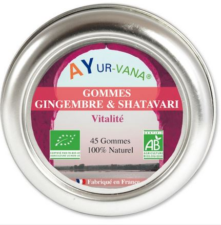 Gommes Gingembre et Shatavari Ayurvana